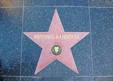 Hollywood Walk of Fame - Antonio Banderas. The Antonio Banderas Walk of Fame Star on Hollywood Boulevard in Los Angeles, California, USA Royalty Free Stock Photo