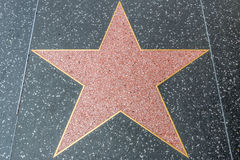 Hollywood Walk of Fame Blank Star Stock Photography
