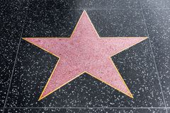 Hollywood walk of fame blank star stock photos