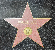 Hollywood Walk of Fame - Bruce Lee Stock Photo