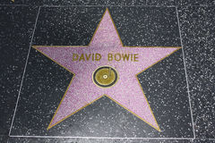 Hollywood Walk of Fame - David Bowie. The David Bowie Hollywood Walk of Fame star on the Hollywood Boulevard in Los Angeles, California Royalty Free Stock Photography