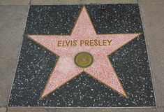 Hollywood Walk of Fame - Elvis Presley. The Elvis Presley Hollywood Walk of Fame star on the Hollywood Boulevard in Los Angeles, California Royalty Free Stock Photography