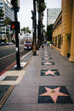 The Hollywood Walk of Fame, in Hollywood  Royalty Free Stock Photo