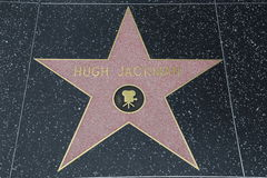 Hollywood Walk of Fame - Hugh Jackman Stock Images