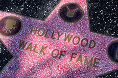 Hollywood Walk of Fame in Los Angeles Stock Photos