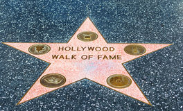Hollywood Walk of Fame. LOS ANGELES, CALIFORNIA - NOVEMBER 02, 2016: Hollywood Walk of Fame Royalty Free Stock Photography