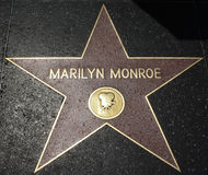 Hollywood Walk of Fame - Marilyn Monroe. The Marilyn Monroe Hollywood Walk of Fame star on the Hollywood Boulevard in Los Angeles, California Stock Images