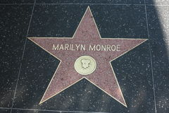 Hollywood Walk of Fame, Marilyn Monroe Stock Images