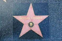 Hollywood Walk of Fame - Morgan Freeman. The Morgan Freeman Walk of Fame Star on Hollywood Boulevard in Los Angeles, California, USA Royalty Free Stock Photography