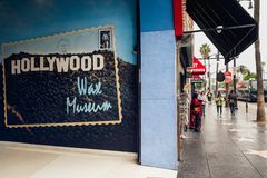 Hollywood Walk of Fame at Morning. stock photos