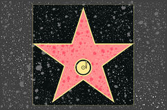 Hollywood walk of fame: Music. Hollywood walk of fame: recording star in vector Stock Photo