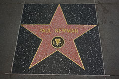 Hollywood Walk of Fame - Paul Newman. The Paul Newman Hollywood Walk of Fame star on the Hollywood Boulevard in Los Angeles, California Stock Photos