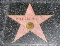 Hollywood Walk of Fame - Phyllis Diller Royalty Free Stock Photography