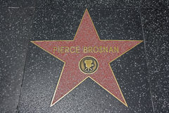 Hollywood Walk of Fame - Pierce Brosnan Stock Photography