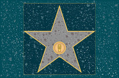 Hollywood walk of fame: Radio stock illustration