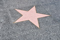 Hollywood walk of fame's star Royalty Free Stock Photos
