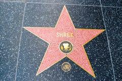 Hollywood Walk of Fame Shrek Stock Photography