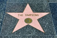 Hollywood Walk of Fame - The Simpsons Stock Photography