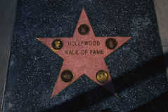 Hollywood Walk of Fame square in Hollywood, CA Stock Photography