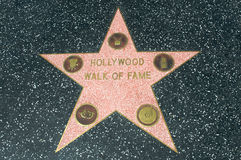 Hollywood Walk of Fame star. Including all the categories: film, TV, radio, music, arts Royalty Free Stock Photography