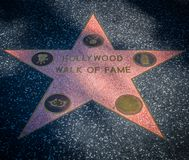 Hollywood walk of fame star Royalty Free Stock Photo