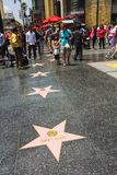 Hollywood Walk of Fame Stars Royalty Free Stock Images