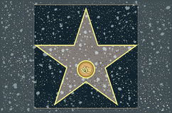 Hollywood walk of fame: Theater stock illustration