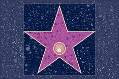 Hollywood walk of fame: TV. Hollywood walk of fame: television star in vector Royalty Free Stock Photography