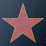 Hollywood Walk Of Fame. Vector Star Illustration. Famous Sidewalk Boulevard. Public Monument To Achievement Royalty Free Stock Photography