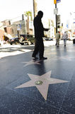 Hollywood walk of stars in los angeles. A shot of the walk of stars in los angeles california Royalty Free Stock Photo