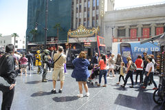 Hollywood walk of stars in los angeles. A shot of the walk of stars in los angeles california Stock Photography