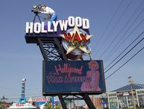 Hollywood Wax Museum sign in Branson, Missouri Stock Image