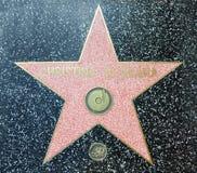 Hollywood-Weg des Ruhmes - Christina Aguilera stockfotos