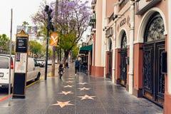 Hollywood-Weg des Ruhmes am Morgen stockbild