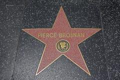 Hollywood-Weg des Ruhmes - Pierce Brosnan Stockfotografie