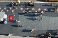 Hollywood-Weg des Ruhmes von einem Balkon Stockbilder
