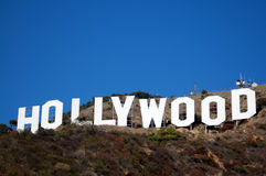 Hollywood-Zeichen Stockfoto