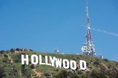Hollywood-Zeichen auf einem blauen Himmel Lizenzfreie Stockfotografie