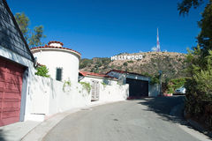 Hollywood-Zeichen auf Santa Monica Bergen in Los Angeles Lizenzfreies Stockfoto