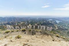 Hollywood-Zeichen von der Rückseite Stockfoto