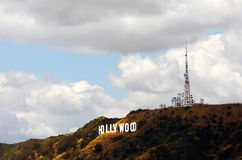hollywood znak Fotografia Royalty Free