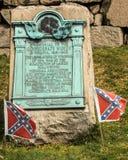 Hollywoodbegraafplaats Richmond Confederate Women Plaque Stock Foto