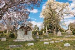 Hollywoodbegraafplaats Richmond Virginia Spring Royalty-vrije Stock Afbeeldingen