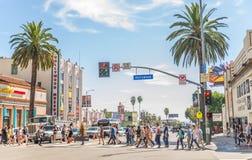 Hollywoodboulevard, Los Angeles Stock Afbeelding
