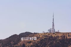 Hollywoodteken royalty-vrije stock foto's