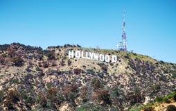 Hollywoodteken dat op Onderstel Lee wordt gevestigd Royalty-vrije Stock Afbeeldingen