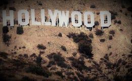 Hollywoodteken en omringend gebied Stock Fotografie