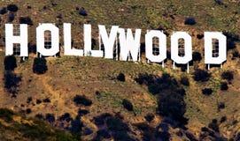 Hollywoodteken en omringend gebied Stock Afbeeldingen