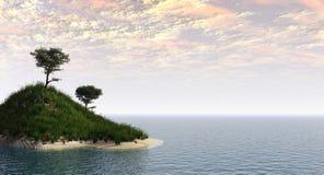 holm 2 drzewa Zdjęcia Royalty Free