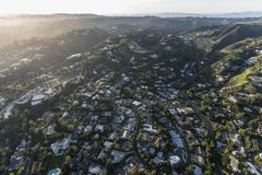 Holmby Hills and Benedict Canyon Areas Near Beverly Hills Califo Stock Photography